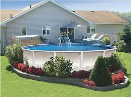 large round pool deck in patio image pictures u0026 photos high