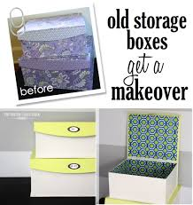 old storage boxes get a makeover the homes i have made