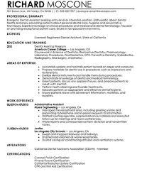 dental resume exles resume exles dental assistant exles of resumes