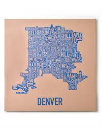 Denver Neighborhoods Map Denver Neighborhoods Map Posters U0026 Prints By Ork Posters