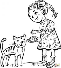 dog and cat coloring pages printable perfect kittens coloring