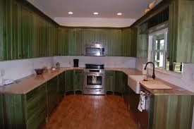 Distressed Kitchen Cabinets Emerald Green Distressed Kitchen Haus Custom Furniture