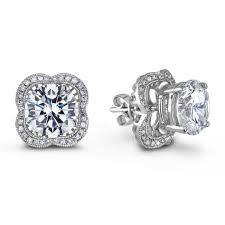 earring jacket 52 diamond stud earrings with jackets 05 carat white