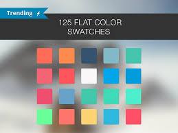 trending color palettes 125 flat color swatches palettes creative market