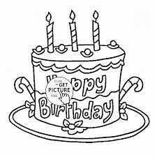happy 3rd birthday cake coloring page for kids holiday coloring