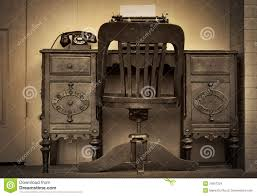 Antique Office Desk by Vintage Office Stock Images Image 34557324