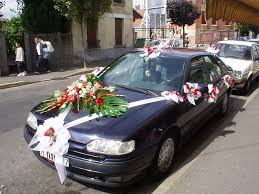 Wedding Car Decorations White And Red Ribbons Wedding Car Decoration