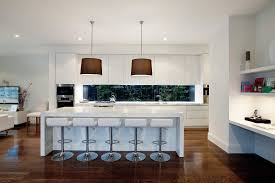 Kitchen Window Shelf Ideas Prahran Kitchen Galley White Cupboards Marble Benchtop Timber