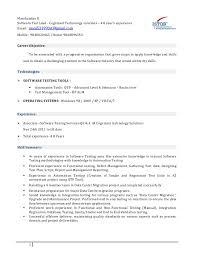 Testing Tools Resume Manikandan Resume