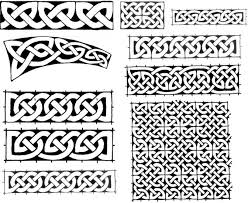 celtic knots friezes and plane knotwork ornaments