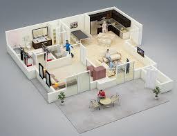 Home Design Floor Plans 25 One Bedroom House Apartment Plans