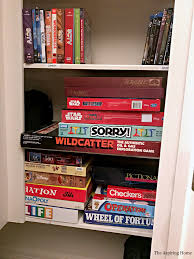 simple game room closet organization tips the aspiring home