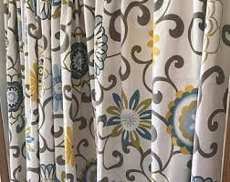 yellow curtain panel etsy