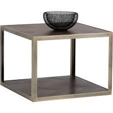 Dynamic Home Decor Braintree Ma Us 02184 Sunpan 102401 Mara End Table In Smoked Mocha Acacia On Brass Steel