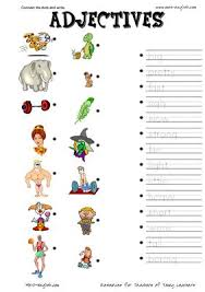 adjectives worksheets appearance pdf actividades pinterest
