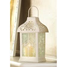 wholesale ivory white metal daisy gazebo candle lantern elegant