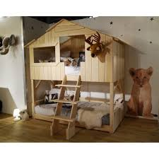 Bunk Beds For Sale On Ebay Apartments Tree House Style Rustic Oak Finish Wood Loft Bed