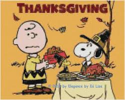 peanut s a brown and snoopy thanksgiving cross stitch