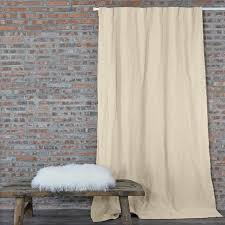 pure washed crumpled linen curtains drapery linenshed