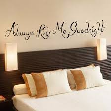 always kiss me goodnight wall decal couple bedroom decal love wall