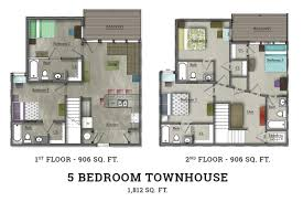 town house floor plans bedroom 5 bedroom townhouse floor plans