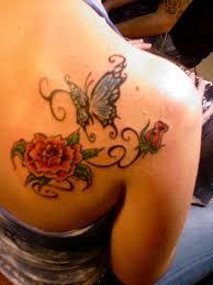 gorgeous back butterfly design with flower great