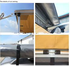 Retractable 4wd Awnings Offroad Outdoor Camping Retractable Side Awning Color Customized