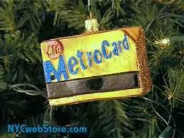 nyc subway metrocard ornament glass