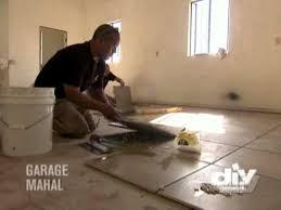 Tiles For Garage Floor Laying Garage Floor Tile Youtube