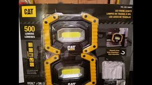 cat rechargeable led work light costco cat led work lights 500 lumens costco deal youtube