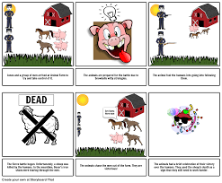 animal farm battle of the cowshed storyboard by certyamz
