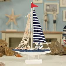 new marine net nautical decor wooden blue sailing boat ship party