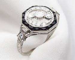 onyx engagement rings deco diamond onyx ring diamond onyx platinum ring