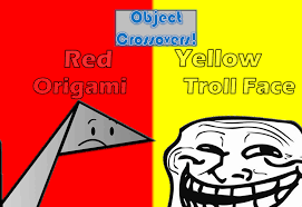 Super Happy Meme Face - red vs yellow 2 origami vs troll face meme by planetbucket22