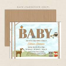 woodland baby shower invitations woodland baby shower invitation lil sprout greetings
