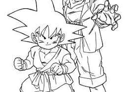 drawing dragon ball kai characters coloring pages kids 43
