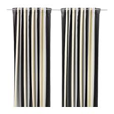 Ikea Curtains Blackout Decorating Praktlilja Blackout Curtains 1 Pair Gray Beige Room Lights