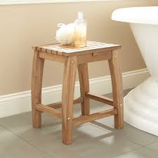 Bathroom Shower Chairs by Terrel Square Teak Shower Stool Bathroom