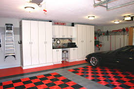 Garage Ceiling Lights Workbench Ideas Garage And Shed Traditional With Black Car Black