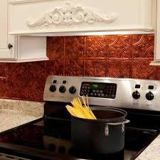 kitchen fasade backsplash fasade ceiling tiles tin backsplash appliances sleek and shiny copper backsplash with wall mount