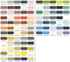 industrial paint colour charts and swatch options