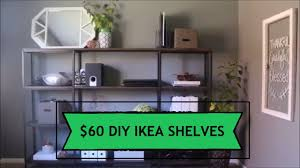 ikea hack office office shelving diy project ikea hyllis hack youtube