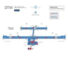 detroit metro airport map dtw detroit metropolitan wayne county airport terminal map