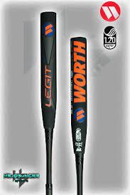 worth legit 2017 worth legit 220 usssa bj fulk xl slowpitch softball bat wlgbju