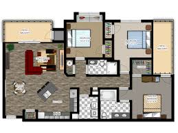 Floor Plan Of A Living Room River House Apartments Floor Plans