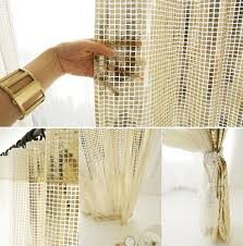 Gold Metallic Curtains Glamorous Gold Metallic Plaids Curtain Decorative Drapery Panel