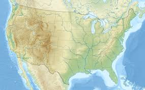 us relief map template location map