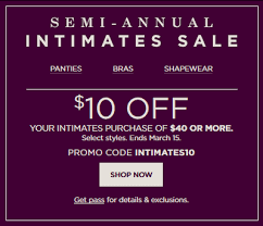 kohl s semi annual intimates sale 10 40 30 with