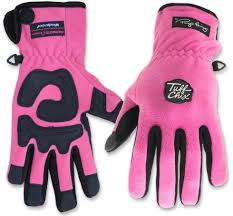 tuff chix pink fleece winter gloves www hoofprints com