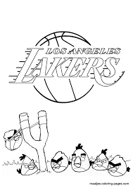 los angeles lakers coloring page coloring home